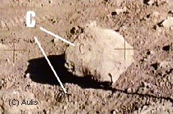 Apollo Moon Rock with the Letter C