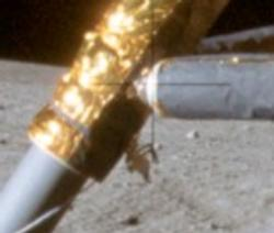 Moon lander showing faded camera cross